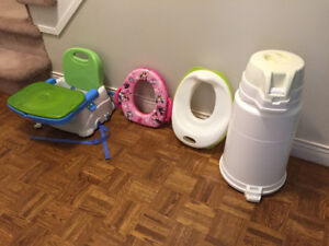 Fisher price feeding chair and other baby items