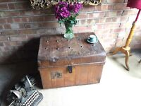 VICTORIAN VINTAGE TRUNK CHEST FREE DELIVERY STORAGE BOX
