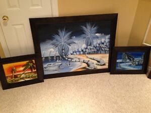 3pc art collection - not big box store paintings - 100OBO
