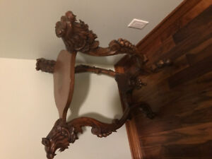 Antique 1850s medieval/ gothic table