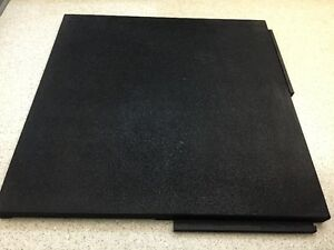 Gym Flooring - Black 2'x2' 1.25 inch thick tile - interlocking