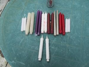 CANDLES AND BATTERY OPERATED CANDLE STICKS - NEW!!!!