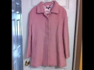 Pink Wool Coat Size XL