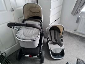Grey mothercare journey pram