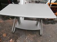 one computer desk sliver nice metal and top wood $40  514-803-4