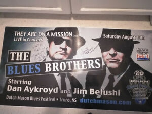 BLUES BROTHERS OFFICIAL/AUTOGRAPHED TOUR BOARD