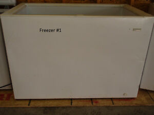 multiple chest and upright freezers for sale