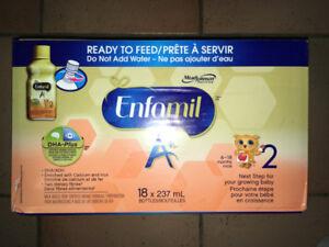 ENFAMIL A+ 2 READY TO FEED INFANT FORMULA 18 X 237 mL