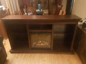 Electric fireplace stand/ media center