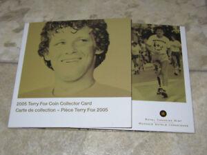2005 Terry Fox coin collector card