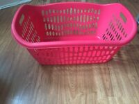 Laundry basket, red basket for your washing