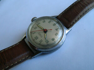 VINTAGE MILITARY STYLE SWISS MADE SINDACO MEN'S WATCH