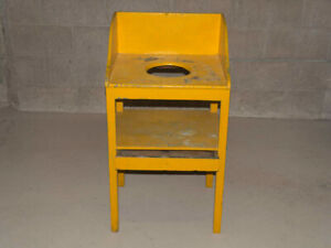 VINTAGE WASH STAND - Yellow - Might be Antique