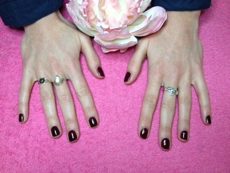 CND Shellac gel polish manicure £12 valentines nails