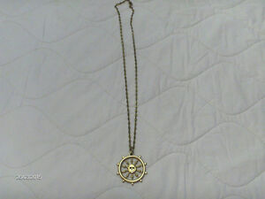 Disney Gold Chain with Pirate Ship's Wheel w Skull -Collectible Kitchener / Waterloo Kitchener Area image 1
