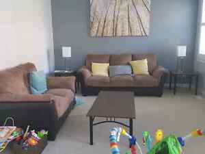 Couch set - love seat and three seater clean smoke free home