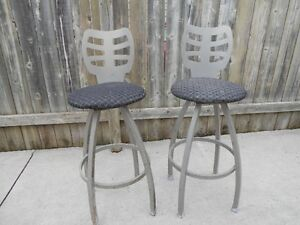 two steel bar chairs 20.00