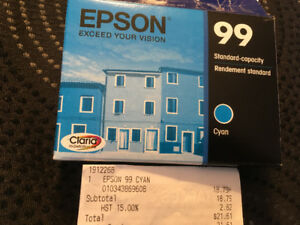 Epson Standard-capacity CYAN ink cartridge #99 for Epson Printer