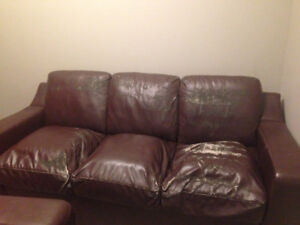 Leather sofa for free