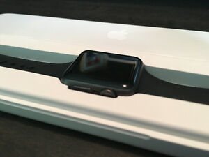 New Apple Watch Sport Edition Space Gray with Black silicon band
