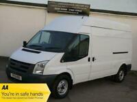 10 FORD TRANSIT 350 2.4 TDCI LWB HIGH TOP ROOF WHITE NO VAT PANEL VAN TURBO VAN