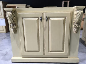 KITCHEN CABINETS AND 2 ISLANDS, MAPLE,SIGNED DENIS COUTURE
