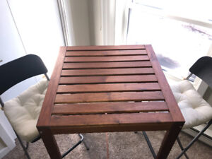 Patio table and chairs - great for small balcony or backyard!