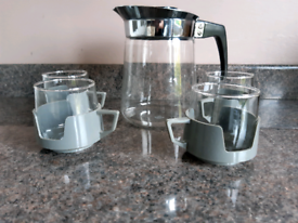 Retro coffee pot and cups