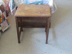 """Engraved Italian Stacking Table """"HFX Hoarders and Collectors"""""""