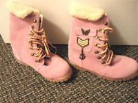 Pink Flat Boots