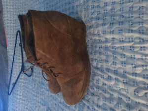 Suede Brown Aldo Ankle Boots for $10!