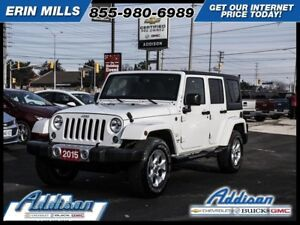 2015 Jeep Wrangler Unlimited SaharaUnlimited Two Tops 4wd Navi A