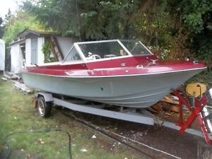 17.5 ft boat and trailer