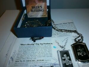 DOG TAG HARLEY BIKERS BLESSING PENDANT AVEC CHAIN