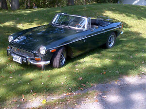 71 MGB roadster with overdrive transmission