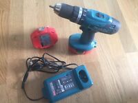 Makita 18 v COMBI drill 1.3ah semi new with box,charger and battery