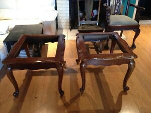 Solid Wood Coffee & End Tables - Smoked Bevelled Glass Cambridge Kitchener Area image 8