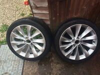Genuine VW Passat CC interlagos alloys 18 inches with Kumho tyres