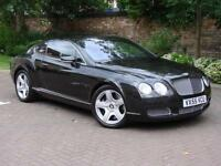 EXCELLENT EXAMPLE!!! 2006 BENTLEY CONTINENTAL 6.0 GT 2dr, BLACK LEATHER, SAT NAV