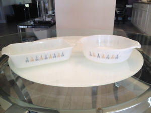 Plats a Cuisson ** Vintage Fire-King Candle Glow ** Bakeware