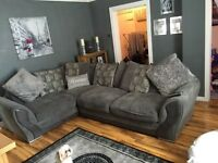 Corner couch and cuddle chair