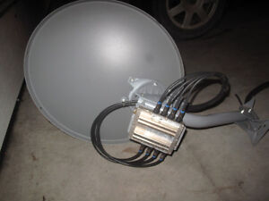 Bell satellite dish with SW44 switch Kitchener / Waterloo Kitchener Area image 2
