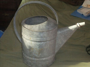 """Vintage Large Galvanized Watering Can #10 14"""" H West Island Greater Montréal image 1"""