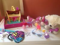 Girls toys,backpacks,dvds,books,furreal pet,my little pony,etc!!