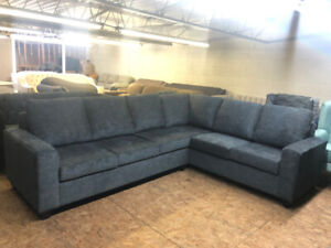 BRAND NEW BLUE COMFORTABLE CANADIAN CANADIAN MADE SECTIONAL