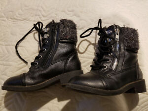 Toddler size 7.5M US Polo Assn girls boots.
