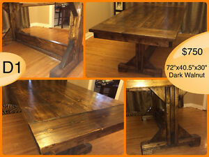 CUSTOM SOLID WOOD RUSTIC DINING TABLES, BENCHES AND MORE Kingston Kingston Area image 8