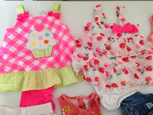 3-6 month girls dresses and other frilly clothing!