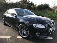 2010 59 AUDI A5 2.0 TFSI SPORT 180 BHP 2DR COUPE BLACK METALLIC, ONLY 65K MILES