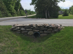 building your stone driveway retaining wall